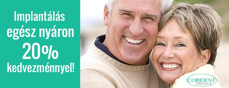 Egész nyáron 20% kedvezmény az implantátumokra Veszprémi fogászati rendelőnkben!